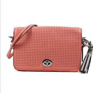 Coach Legacy Leather Coral Cross Body Bag